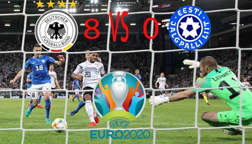 Hasil Kualifikasi Piala Eropa 2020: Jerman Pesta Gol ke Gawang Estonia 8-0