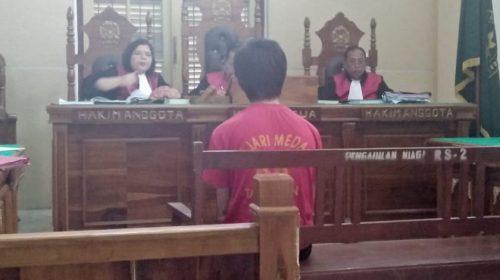Edarkan Sabu 1,49 Gram, Frits Dihukum 6 Tahun dan 9 Bulan Penjara