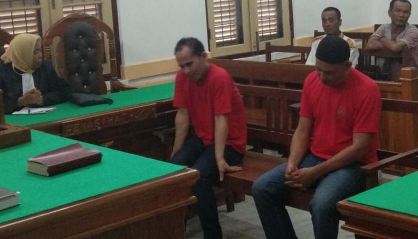 Sidang Berujung Ricuh, Terdakwa Junaidi tak Terima Divonis Mati