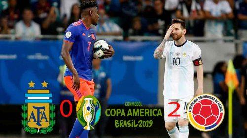 Timnas Argentina Dipermalukan Kolombia 0-2 di Copa America 2019