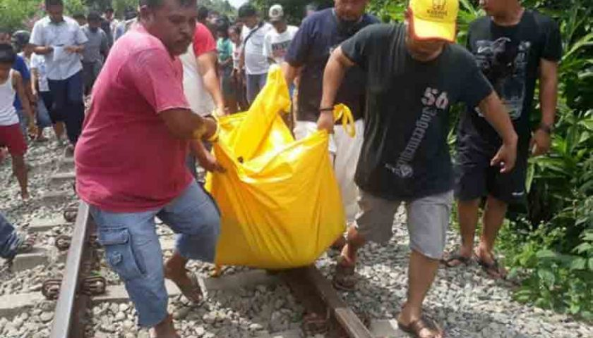 Warga Siantar Tewas Tertabrak Kereta Api, Asyik Terima Telepon