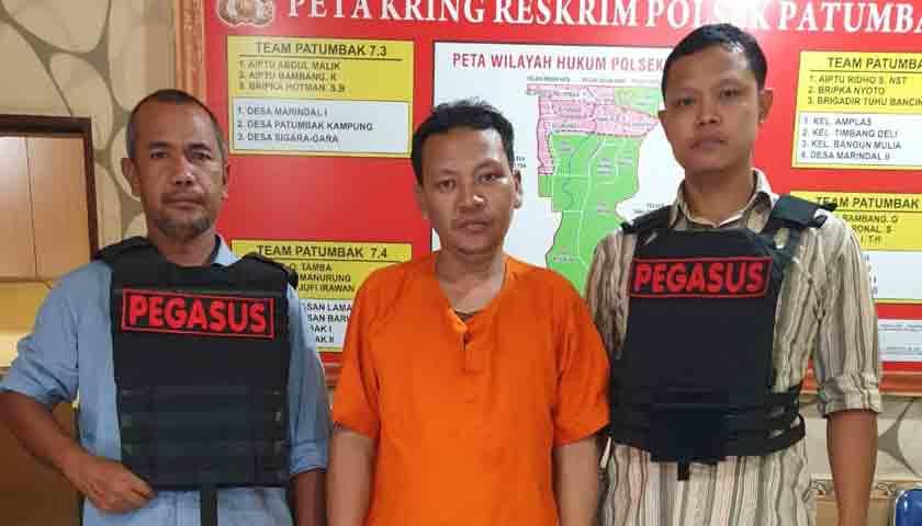 Jual Narkoba Sekitar Amplas, Robert Sihombing Ditangkap Polisi Berpakaian Preman