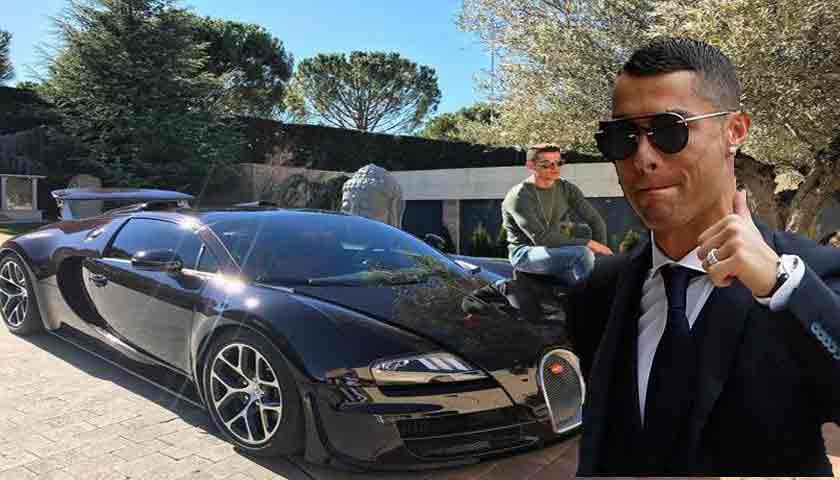 Cristiano Ronaldo Pamer Mobil Supercar Bugatti Veyron Seharga Rp170 Miliar