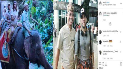 Ternyata! Dani Alvez Liburan di Pulau Bali Bersama Istri