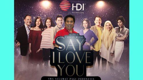 Film 'Say I Love You' Terinspirasi Perjuangan SMA SPI Kota Batu Malang