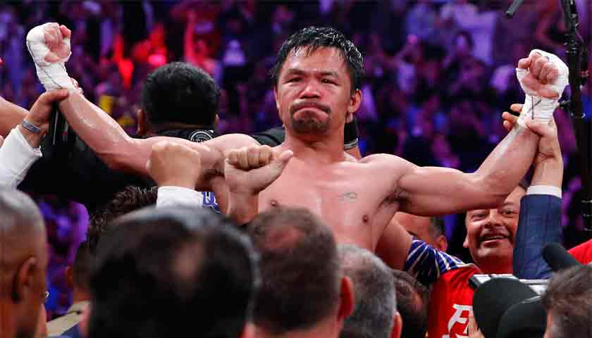 Manny Pacquiao Rebut Gelar WBA Walter Super Usai Menang Angka dari Thurman