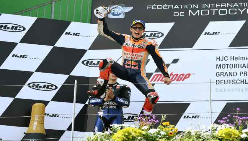 Tampil Dominan Marc Marquez Juara di MotoGP Jerman 2019