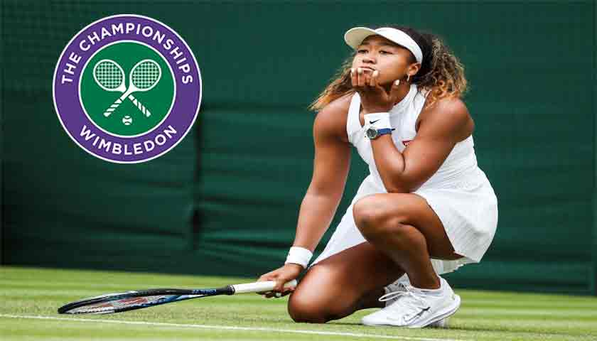 Naomi Osaka Hampir Menangis Terjungkal di Wimbledon 2019