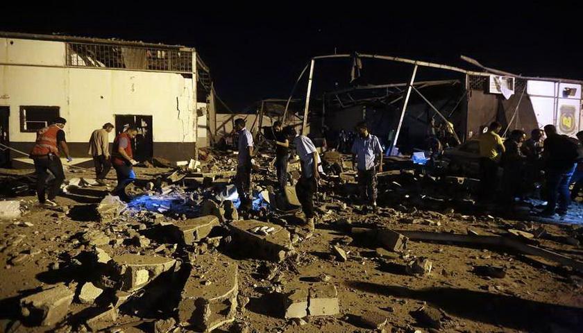 Serangan Udara Hantam Pusat Penahanan Libia, 44 Tewas
