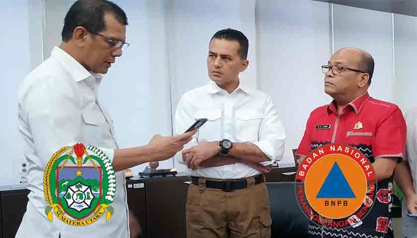 Wagubsu dan Kepala BNPB Bahas Relokasi Korban Sinabung dan Penanganan Banjir di Kota Medan