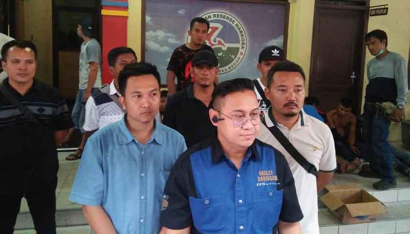 Gempur Basis Narkoba, Polrestabes Medan Bekuk 13 Tersangka
