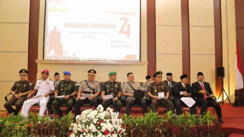 Rapat Paripurna Istimewa DPRD Medan, Kapolres Pelabuhan Belawan Dengarkan Pidato Presiden RI