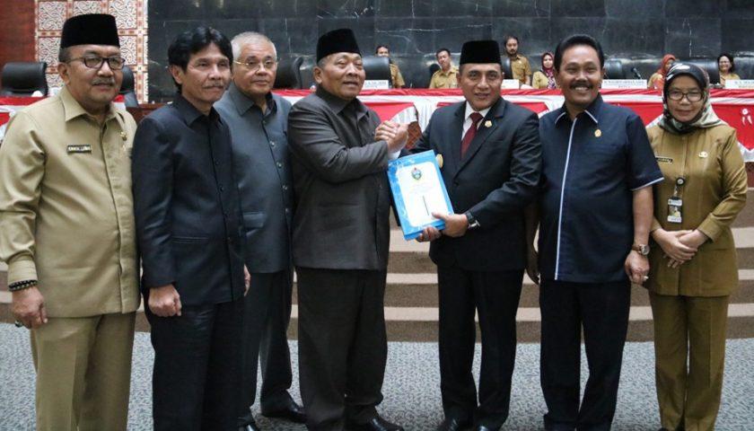 Gubernur Sumut Sampaikan Nota Keuangan R-APBD 2020 Rp12,4 T ke DPRDSU