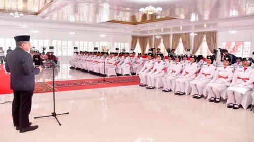 Gubsu Harapkan Kepada 66 Anggota Paskibraka Terus Berjuang Untuk Sumut