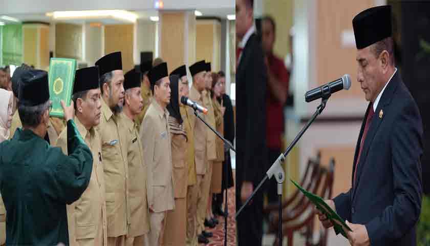 Gubsu Edy Rahmayadi Lantik 9 Pejabat Eselon II dan 13 Pejabat Eselon III di Lingkungan Pemprovsu