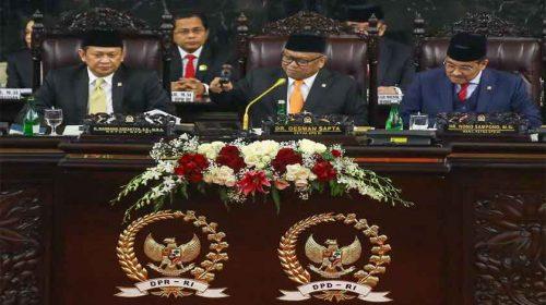 Sidang Bersama DPR RI, DPD RI Konsisten Perjuangkan Kesejahteraan Daerah