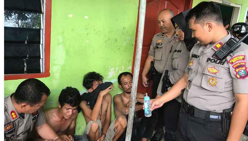 Sabhara Polrestabes Medan Gempur 5 Kampung Narkoba