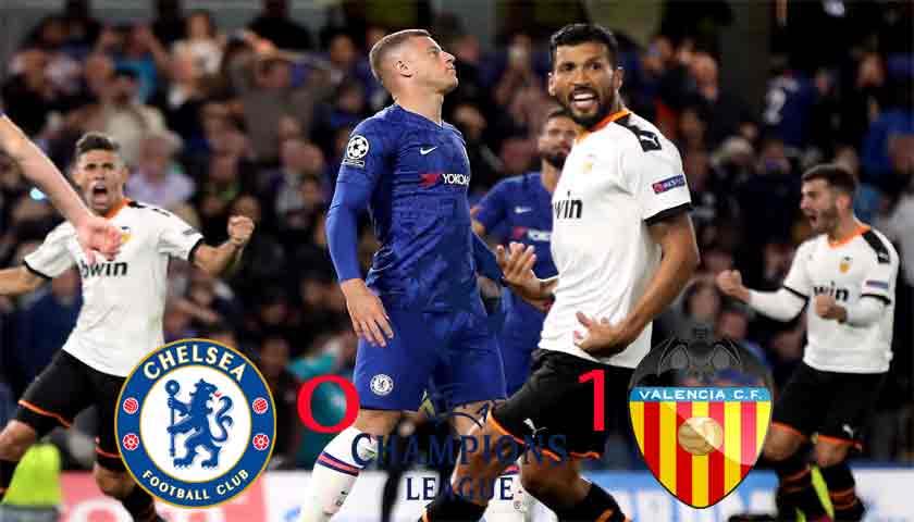 Hasil Liga Champions 2019/20: Chelsea Dipermalukan Valencia 0-1