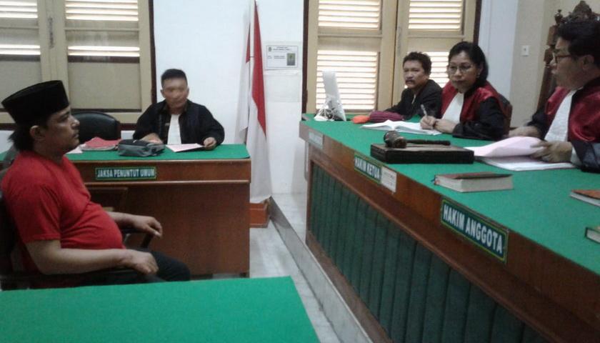 Terdakwa Kurir 45 Kg Sabu dan 40.000 Butir Ekstasi Dituntut Pidana Mati