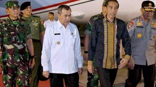 Jarak Pandang di Pekanbaru Membaik Saat Jokowi Datang
