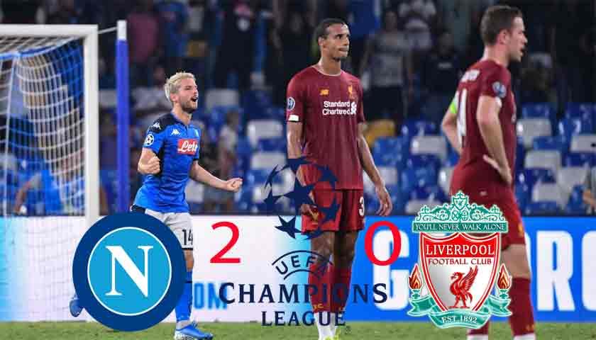 Hasil Liga Champions 2019/20: Napoli Tundukkan Juara Bertahan Liverpool 2-0