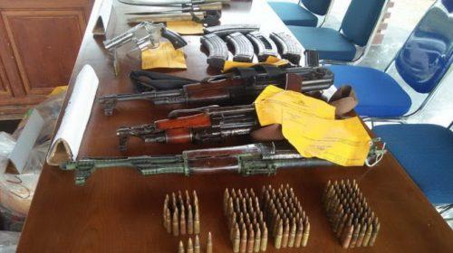 Polisi Berhasil Mengamankan Barang Bukti Senjata Api dari Para KKB di Bireuen