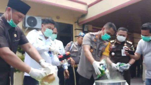 Polres Tanjungbalai Musnahkan Barang Bukti 18.880,43 Gram Sabu dan 9.840 Butir Ekstasi