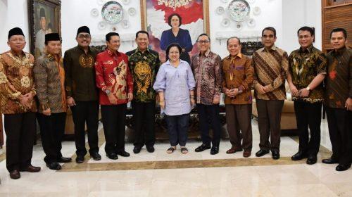 Bertemu Megawati, Pimpinan MPR RI Bahas Usulan Amandemen Terbatas UUD 1945