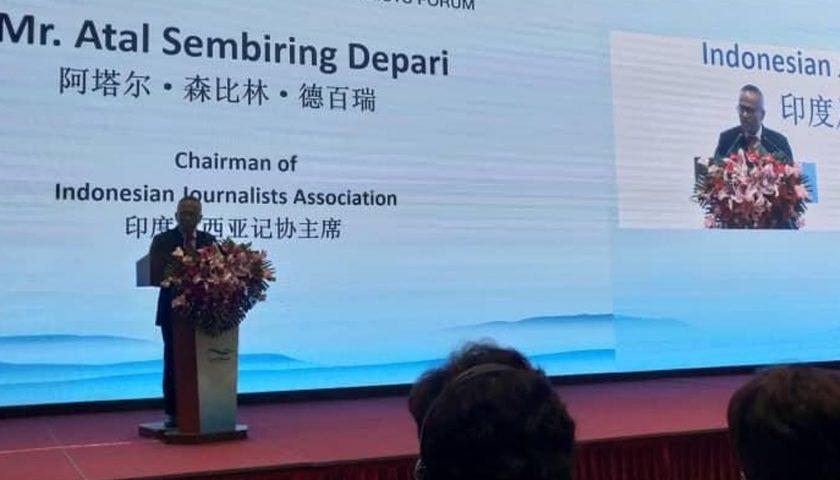 Ketua Umum PWI Pusat Hadiri Forum Jurnalis di Beijing