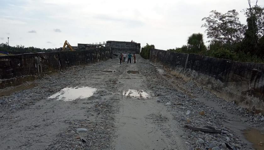 Wing Wall Jembatan Terpanjang di Aceh Terancam Roboh