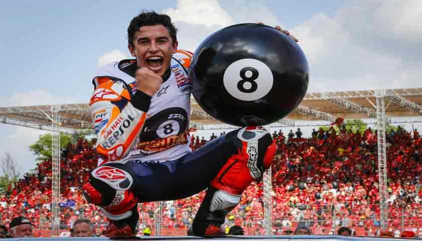 Walau Sudah Juara Dunia MotoGP 2019, Marc Marquez Tetap Tampil Maksimal di Sisa Seri