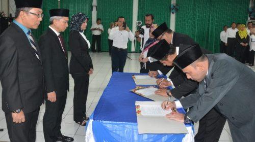 Dirut PDAM Tirtanadi Medan Lantik 35 Pejabat Baru
