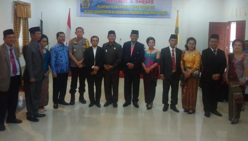 Wabup Samosir Lantik 5 Pejabat Pimpinan Pratama