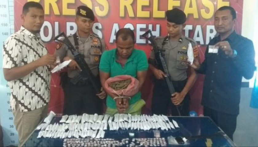 Sempat Melawan Petugas, Seorang Resedivis Kasus Sabu Didor di Aceh Utara