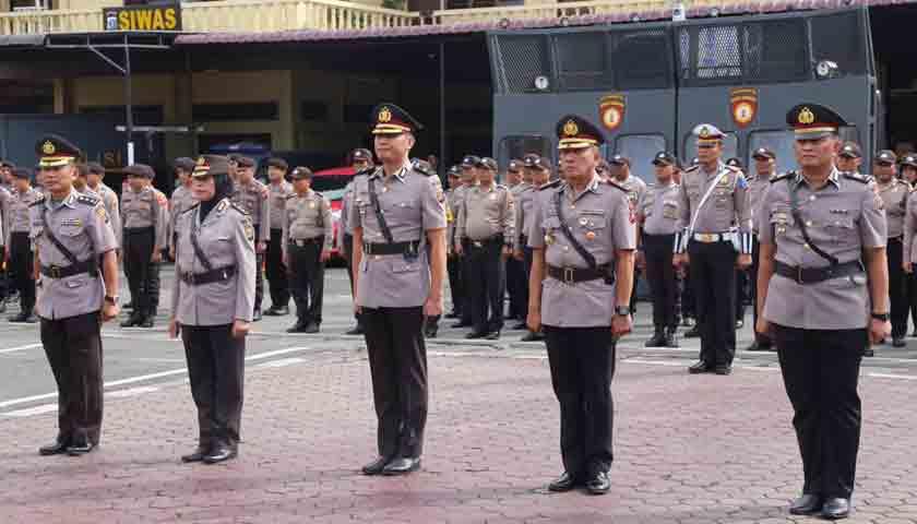 Kapolrestabes Medan Pimpin Sertijab, Kapolsek Delitua Dolly Nelson Nainggolan