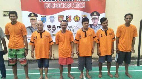 Polsek Medan Timur Ringkus Enam Pelaku Narkoba, Termasuk Pengedar