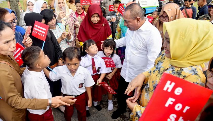 Peringatan Hari Anak Provinsi Sumut, Edy Rahmayadi Ingatkan Orangtua Soal Masa Anak-anak