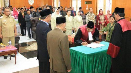 Ketua PT Sumut Lantik Ketua PN Medan Sutio Jumagi Akhirno