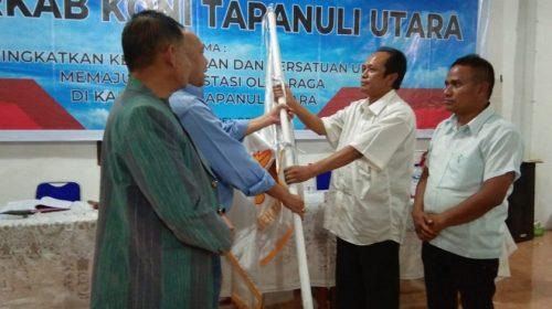 Robinhot Sianturi Pimpin Kembali KONI Taput Periode 2019-2023