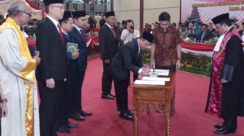 4 Pimpinan DPRD Medan Dilantik