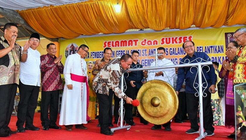Gubsu Edy Rahmayadi Hadiri Pesta Pemberkatan Gereja Katolik
