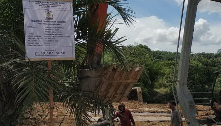 Kadis PUPR: Proyek Jembatan Singkohor Kuta Baharu Masih Tanggung Jawab Rekanan