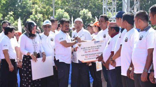Bupati Sergai Dampingi Mentan Launching KOMANDAN dan Panen Pedet