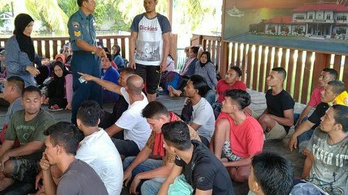 Kapal Patroli Lanal Tanjungbalai Amankan 64 TKI Ilegal Dari Malaysia, Satu Diantaranya Balita
