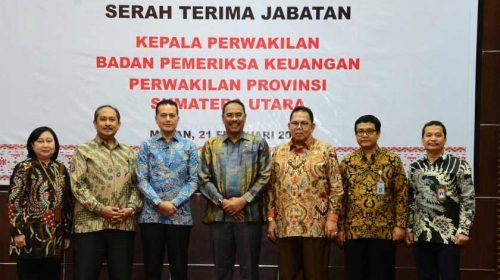 Kepala Perwakilan BPK Provinsi Sumatera Utara Sertijab