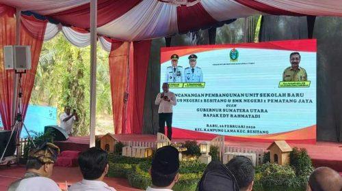Pembangunan SMA Plus Negeri 2 Besitang Berbiaya Rp7,5 Miliar