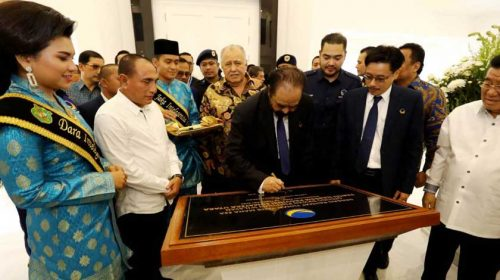 Surya Paloh Resmikan Kantor Nasdem Sumut, Gubernur Apresiasi Kekuatan Basis