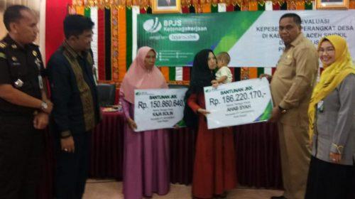 BPJS Ketenagakerjaan Meulaboh Lakukan Rapat Evaluasi di Aceh Singkil
