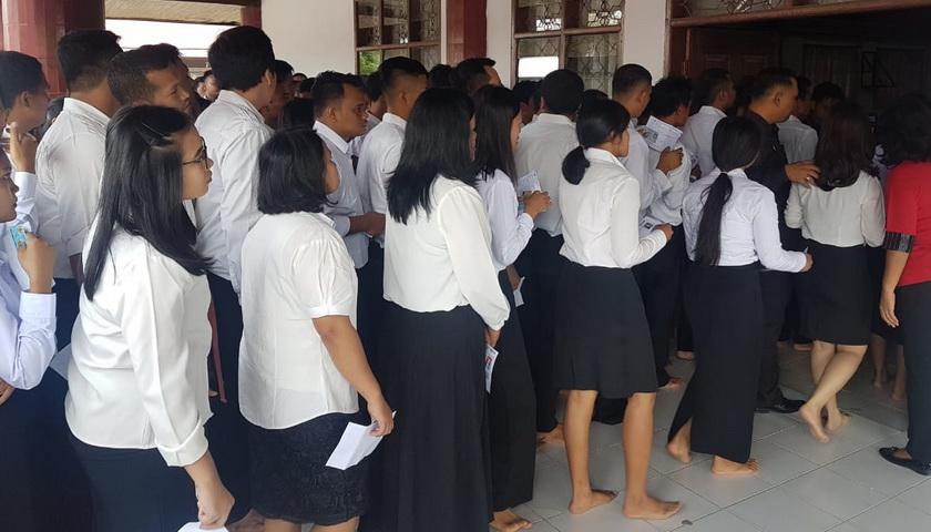 Hari Pertama Ujian SKD CPNS Pemkab Taput Diikuti 1.000 Peserta