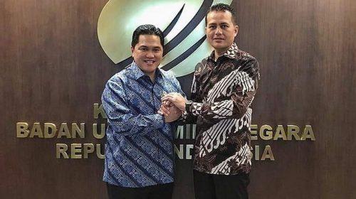 Temui Menteri BUMN, Ijeck Bahas Percepatan Pengembangan Pelabuhan Kuala Tanjung